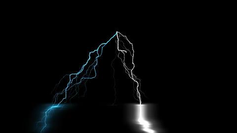 Digital Rendering Lighting Strike Electric Charge Video Videos animados