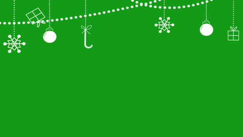 Festival decorative lights motion graphics with green screen background Animation