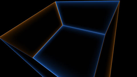 Abstract neon room, computer generated. 3d rendering abstract backdrop with Live Action