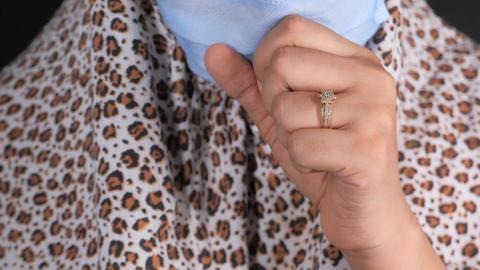 Portrait of sick muslim women sneezes and coughs Live Action