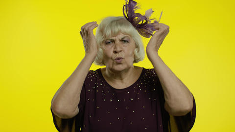 Depression and sadness, negative emotions. Sad senior old woman looking Live Action