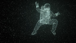 Astronaut By Stars Floating In Space Animation