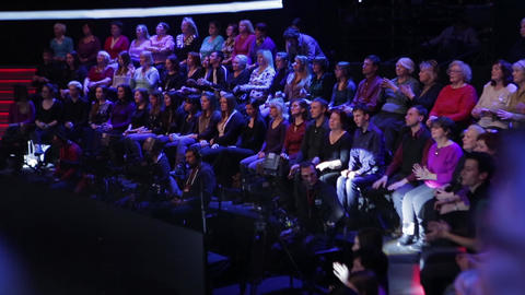 Spectators in a TV studio during a TV recording of a television broadcast Live Action