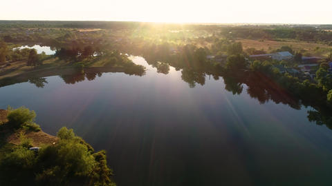 25-22-1-L- Shooting Nature With A Quadrocopter At Sunset. 2