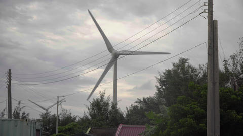 Wind power equipment in Taiwan Live Action