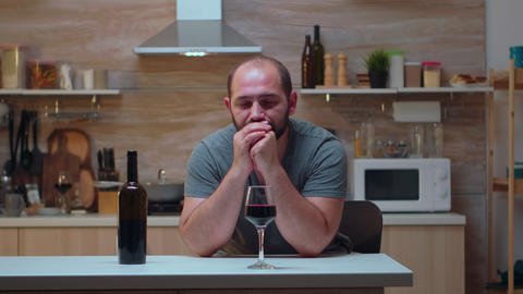 Addicted alcoholic person trying to refrain Live Action