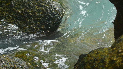 Waves rolled through coastal cliffs Footage
