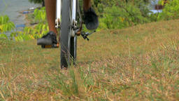 Riding Mountain Bike in Countryside Filmmaterial