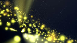 Yellow Light Particles Motion Abstract Background Animation
