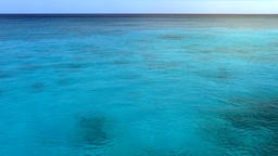 Crystal Clear Turquoise Lagoon and Sea Horizon Footage