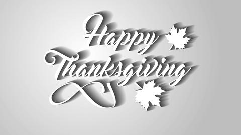 4K Thanksgiving greeting card with Happy Thanksgiving animation lettering text