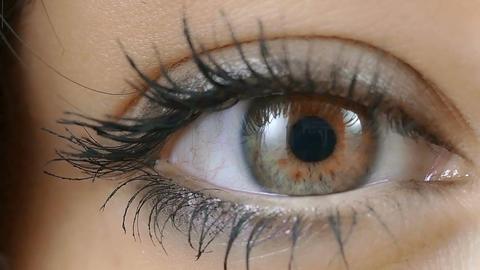 woman's eye closeup portrait Footage