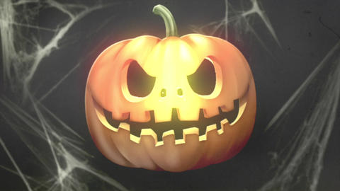 Halloween Pumpkin Logo Intro After Effects Template