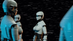 Futuristic Robots With Artificial Intelligence V2 Animation