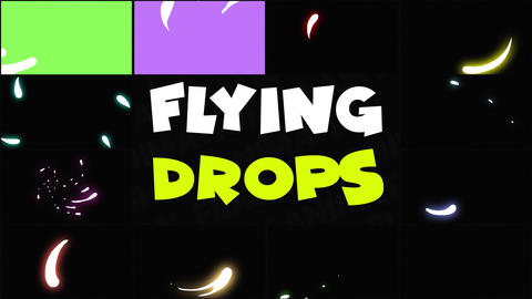 Flying Drops After Effects Template