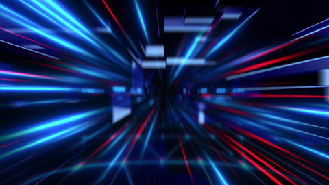 Blue Red Lightstrail Background Animation