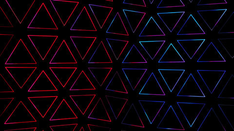 Simple Pattern With Beautiful Gradient Triangles Animation