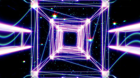 Cube wire BackGround CG Animation
