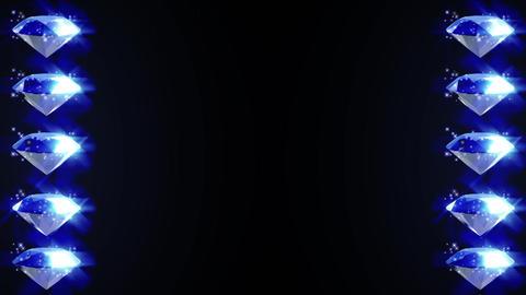 ブルー ダイヤモンド パーティクル キラキラ ループ アニメーション CG動画