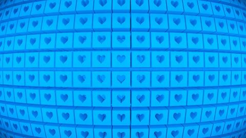 Broadcast Rotating Hi-Tech Cubes Globe Matrix, Blue, Events, 3D, Loopable, HD 애니메이션