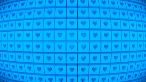 Broadcast Rotating Hi-Tech Cubes Globe Matrix, Blue, Events, 3D, Loopable, HD Animation