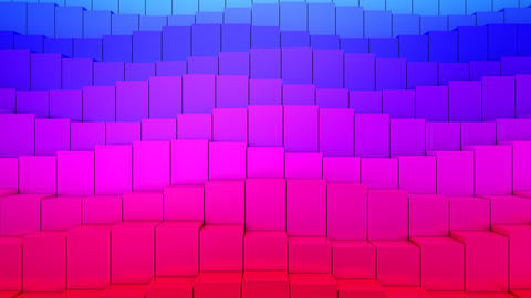 Boxes Form A Wave Animation
