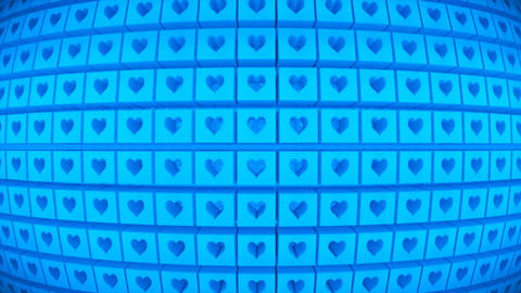 Broadcast Rotating Hi-Tech Cubes Globe Matrix, Blue, Events, 3D, Loopable, 4K 애니메이션
