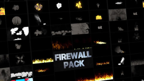Fire Walls Pack Apple Motion Template