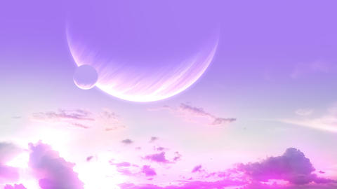 Clouds and Sunset Another Planet Videos animados
