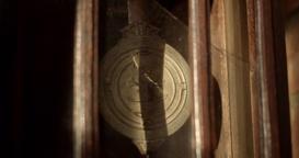 Vintage Pendulum Clock Slow Motion Live Action