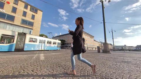 Motion Lapse at Gothenburg Central Square, Sweden Live Action