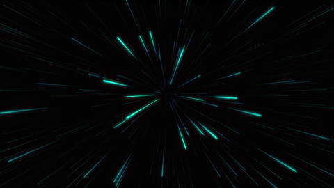 Abstract glow neon lines and stripes. Neon green particles animation. Retro Live Action