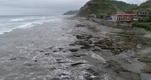 La Entrada, Ecuador-20180914-Drone Aerial - Flight Over Rocks with Rising Tide Live Action