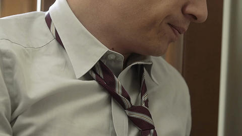 businessman full of sadness: loneliness, sadness, fatigue, depression Live Action