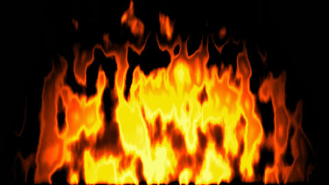 Burning fire generated seamless loop video Animation