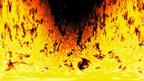 Burning fire generated seamless loop video GIF