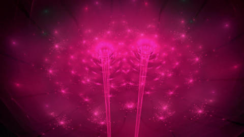 Fractal dancing floral lights seamless loop Animation