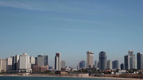 Tel - Aviv, Israel – October 30, 2016: Panorama of the city from the Mediterra Footage