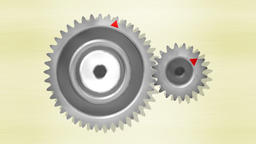 Gears with 40 and 20 teeth, double acceleration Animation