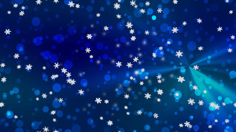 Christmas snowfall seamless loop video Stock Video Footage