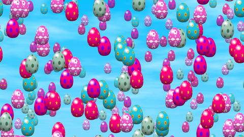 Falling easter eggs seamless loop video Animation