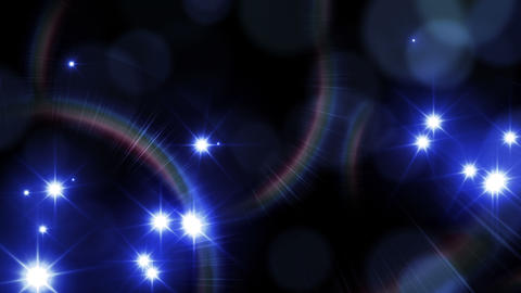 Camera flash light on black background. Blue lights. Loop animation. Beautiful lens flare effect and Animation