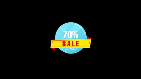70 Percent Sales Discount Banner Animation with QuickTime / Alpha Channel / Prores 4444 애니메이션
