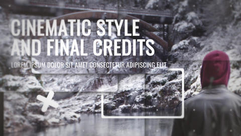 Epic Slideshow With Credits After Effects Template