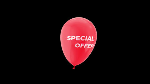Black Friday Special Offer Sales Loop Animation with QuickTime / Alpha Channel / Prores 4444 Animation