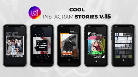 Cool Instagram Stories v 15 After Effects Template