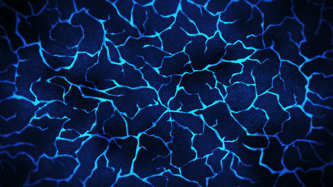 Dark background with blue cracked ground. Smoke, Fog, Dust. Loop animation of molten lava. Earth Animation