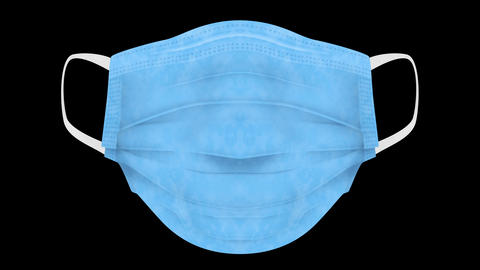 Realistic medical face mask against virus. Wearing mask and breathe. Health care concept. Breathing. Animation