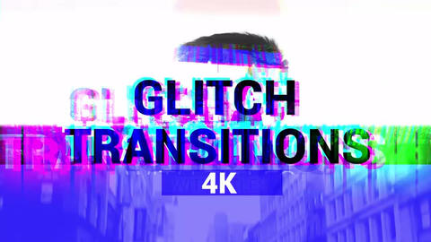 Glitch Transitions 4K Apple Motion Template
