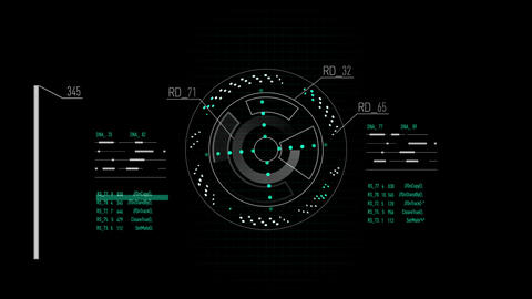 GUI interface templates for web site. Virtual elements on black background Live Action
